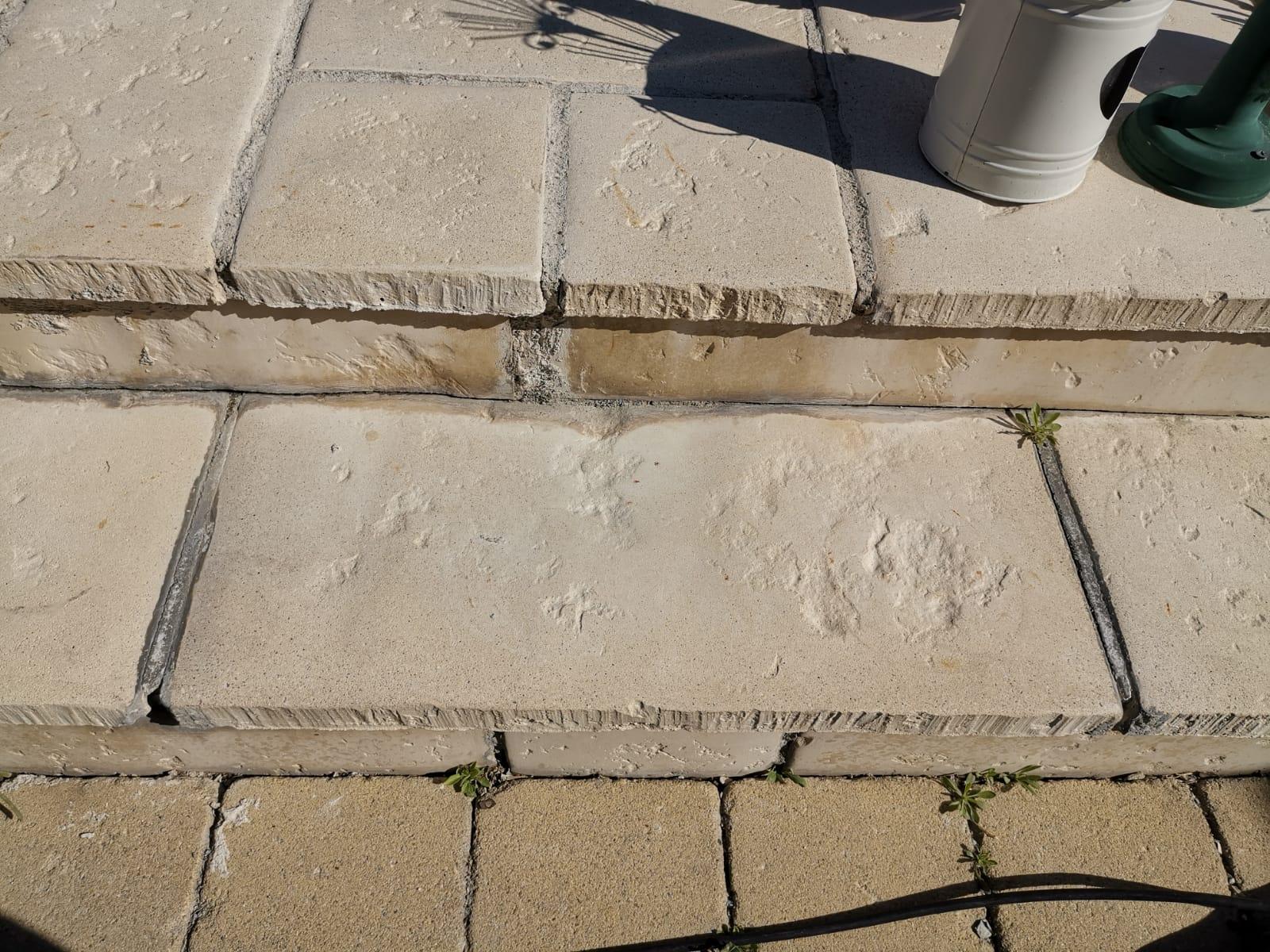 Stufenplatten nach dem Strahlen
